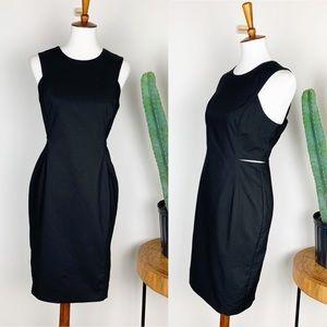 Calvin Klein | Black Side Cut Out Sheath Dress